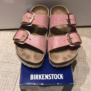Birkenstock Arizona with leather footbed